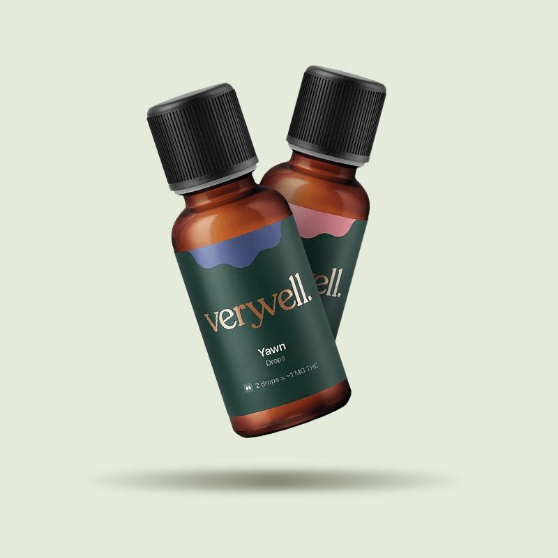 Two small bottles of Veryvell's CBD Oil