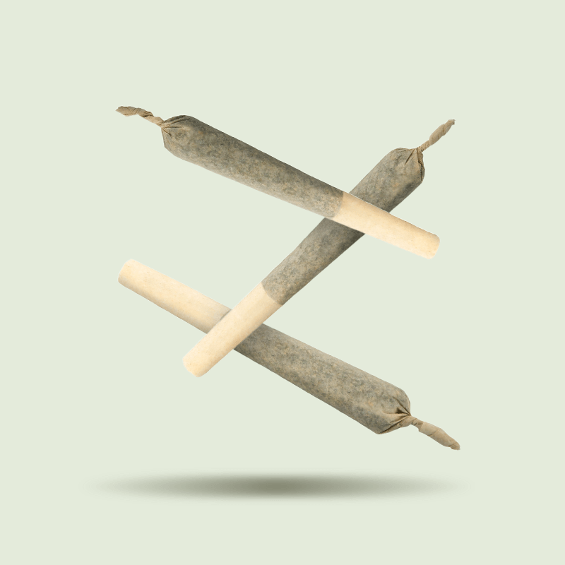 Three pre-rolled cannabis joints