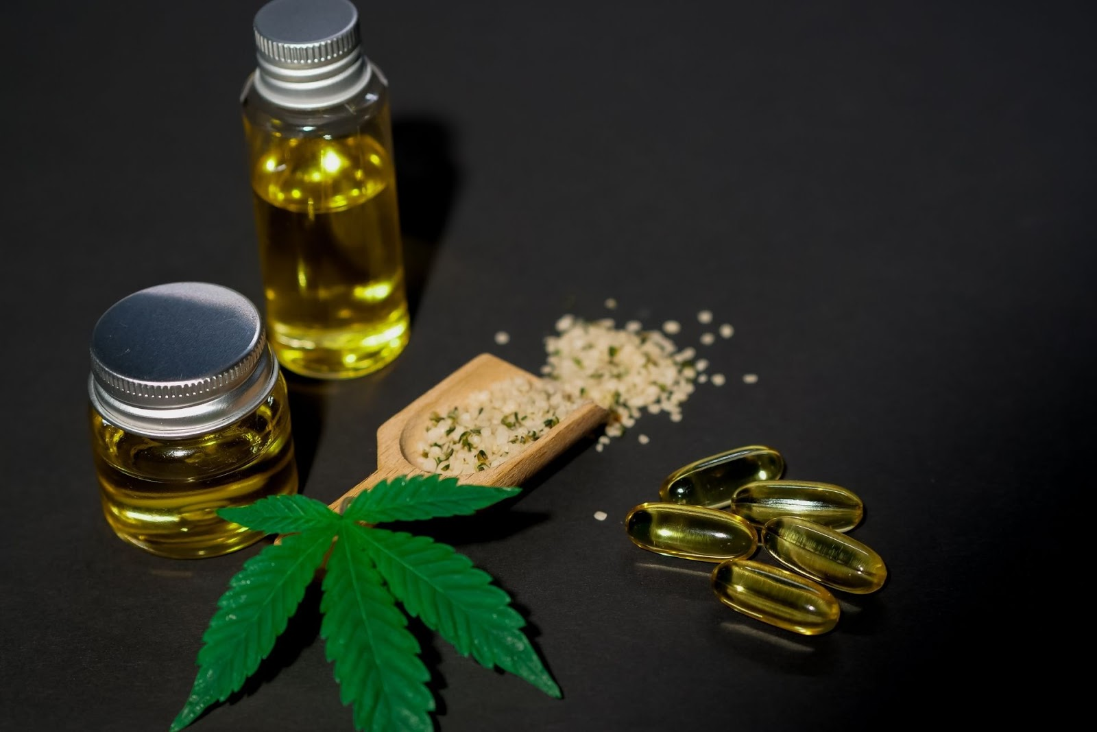 A variety of CBD products