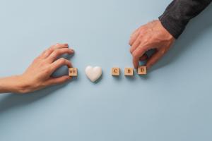 "building blocks that spell ""We love CBD"""